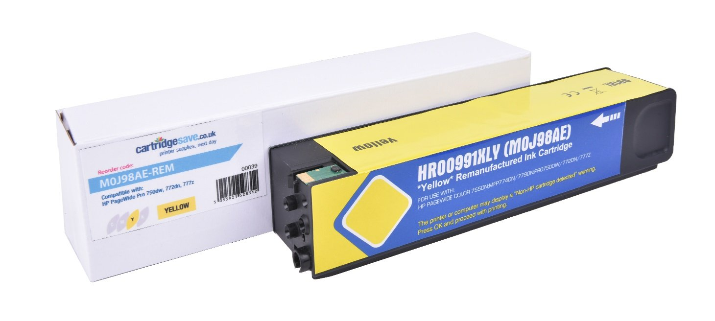 Compatible High Capacity Yellow HP 991X Ink Cartridge - (Replaces HP M0J98AE)