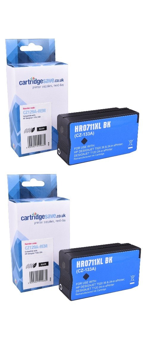 Compatible Multipack Black HP 711 Ink Cartridge Twin Pack - (P2V31A)