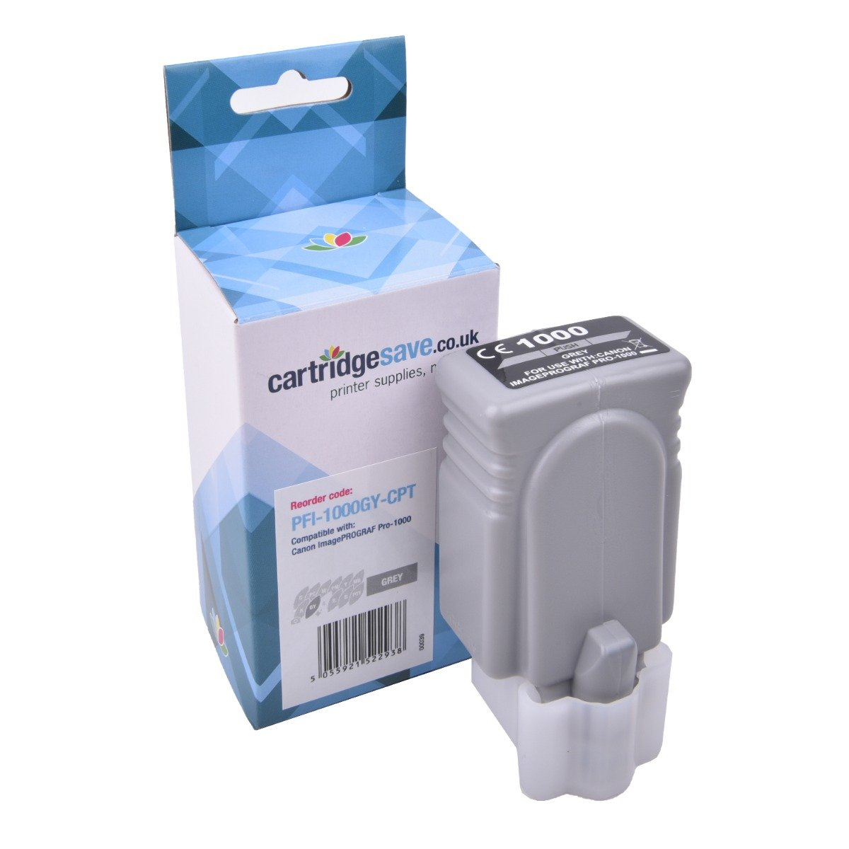 Compatible Grey Canon PFI-1000GY Ink Cartridge - (PFI1000GY)