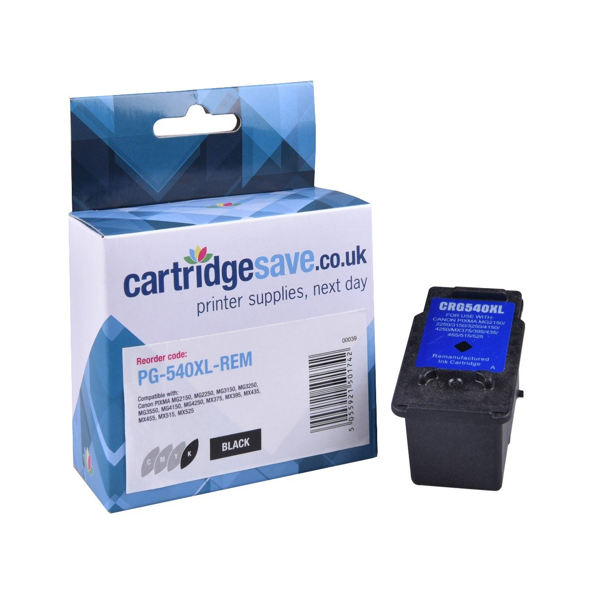 Compatible High Capacity Black Canon PG-540XL Ink Cartridge - (5222B005AA)