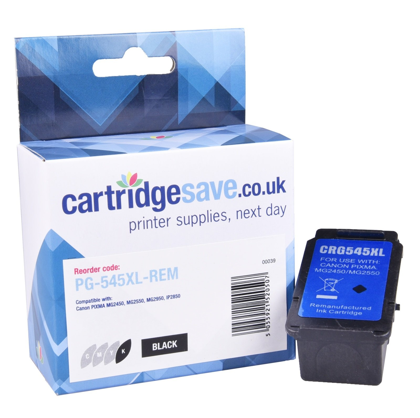 Compatible High Capacity Black Canon PG-545XL Ink Cartridge - (8286B001)