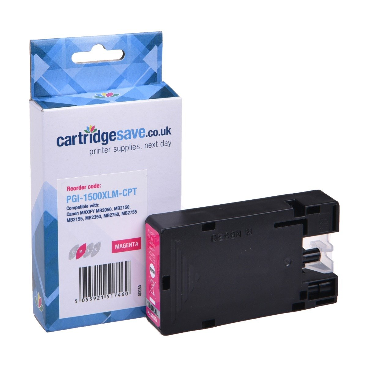 Compatible High Capacity Magenta Canon PGI-1500XLM Ink Cartridge - (9194B001AA)