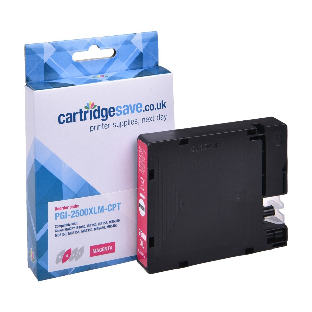 Compatible High Capacity Magenta Canon PGI-2500XLM Ink Cartridge - (9266B001AA)