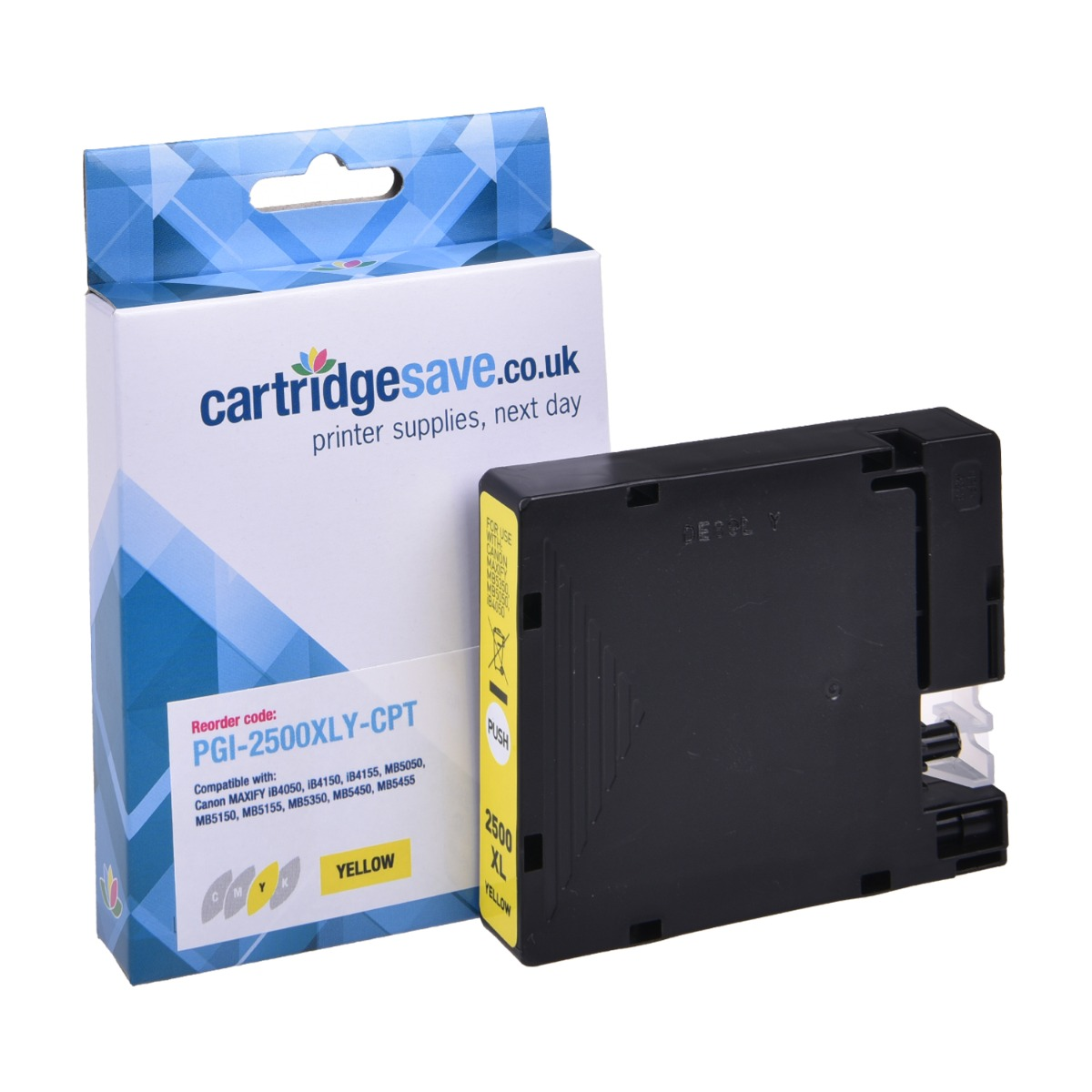 Compatible High Capacity Yellow Canon PGI-2500XLY Ink Cartridge - (9267B001AA)