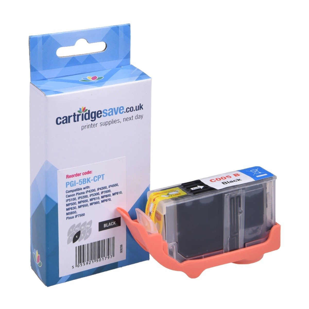 Compatible Black Canon PGI-5BK Printer Cartridge - (Canon 0628B001)
