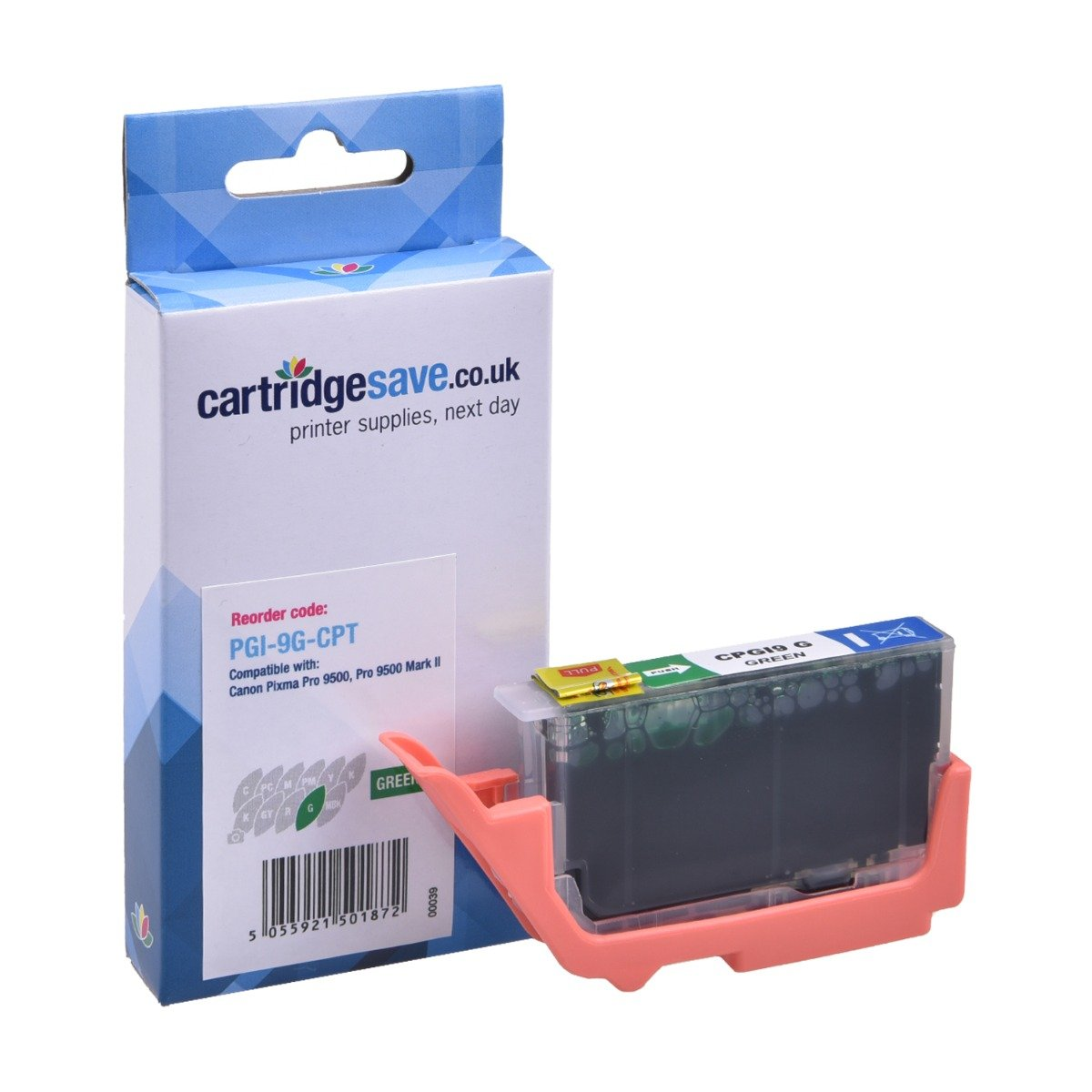 Compatible Green Canon PGI-9G Printer Cartridge - (Replaces Canon 1041B008AA)