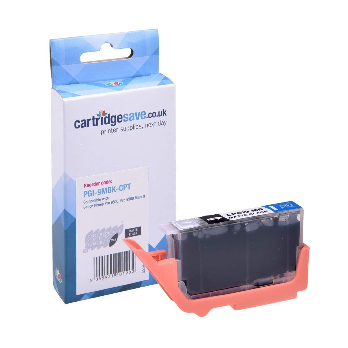 Compatible Matte Black Canon PGI-9MBK Printer Cartridge - (Replaces Canon 1033B001AA)