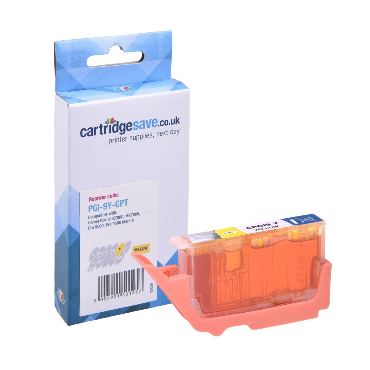 Compatible Yellow Canon PGI-9Y Printer Cartridge - (Replaces Canon 1037B001AA)