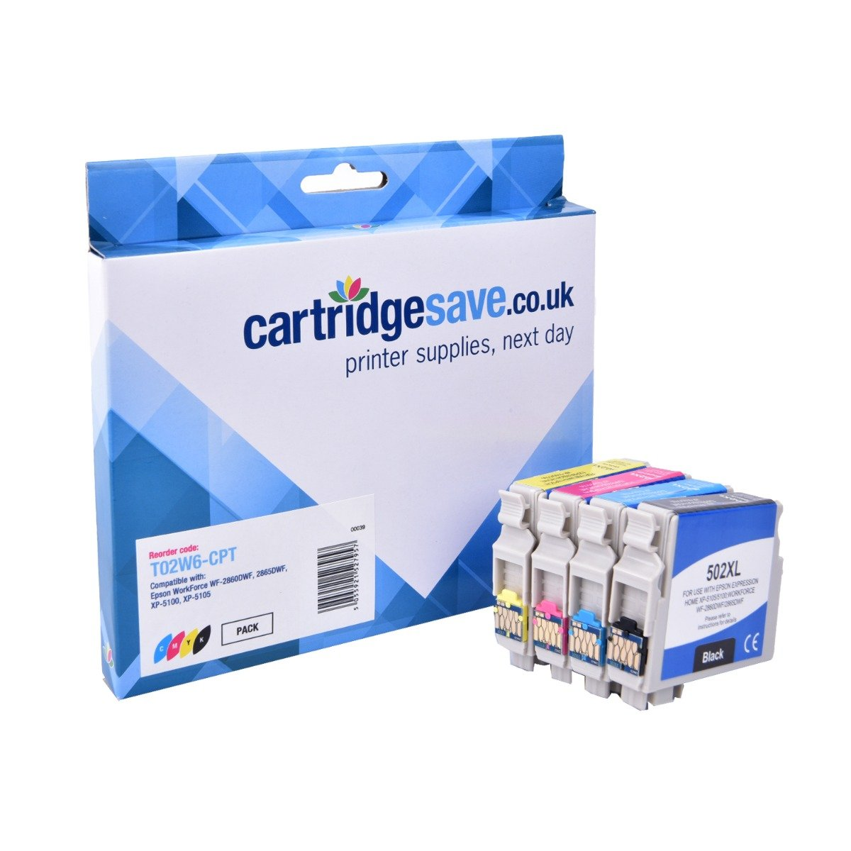 Compatible High Capacity 4 Colour Epson 502XL Ink Cartridge Multipack - (Replaces Epson T02W6 Inkjet Printer Cartridges)