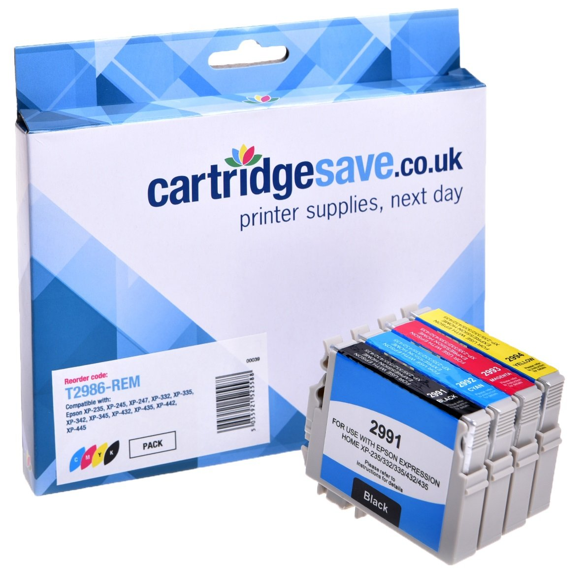 Compatible 4 Colour Epson 29 Ink Cartridge Multipack - (Replaces Epson T2986 Strawberry Inkjet Printer Cartridges)