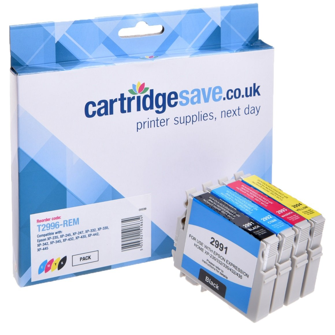 Compatible 4 Colour Epson 29XL High Capacity Ink Cartridge Multipack - (Replaces Epson T2996 Strawberry Inkjet Printer Cartridges)