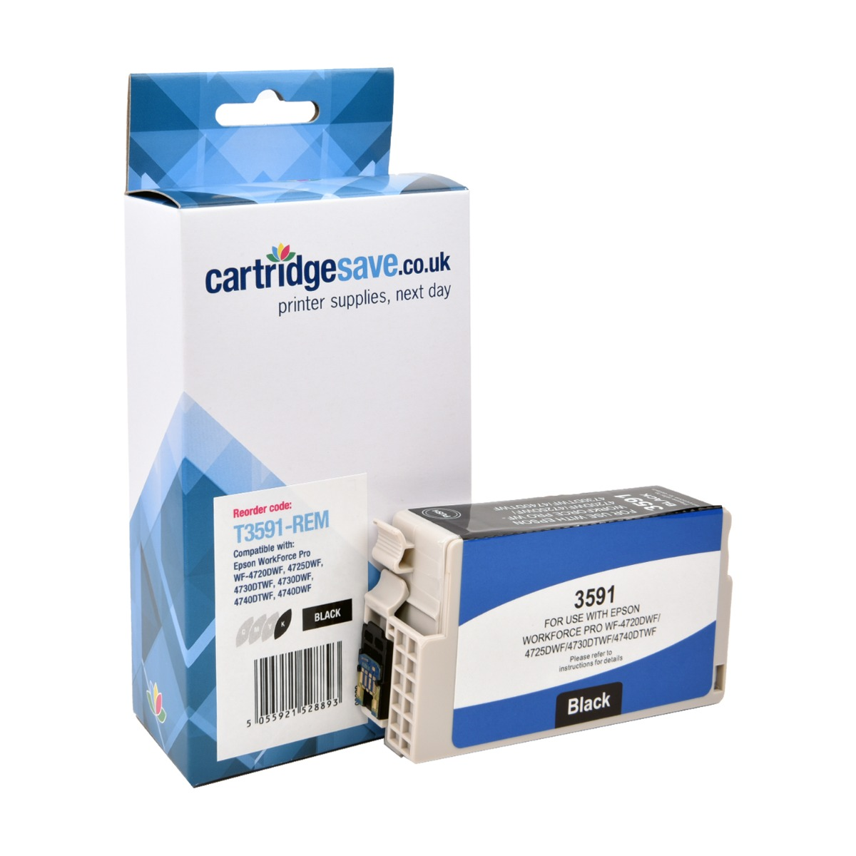 Compatible Black Epson 35XL High Capacity Ink Cartridge - (Replaces Epson T3591)