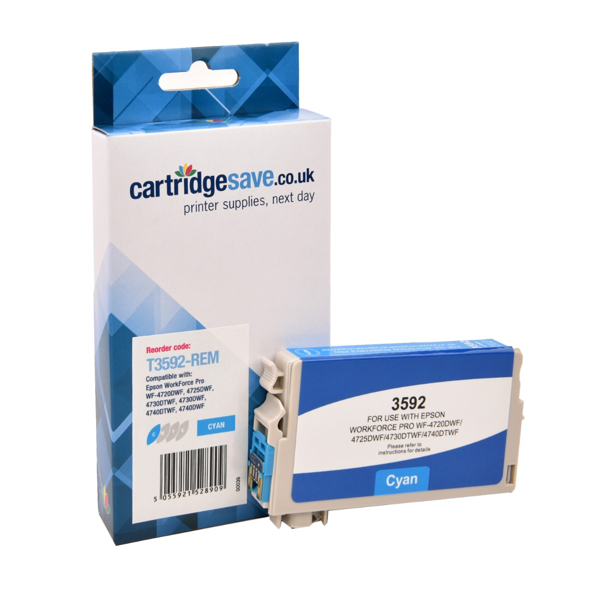 Compatible Cyan Epson 35XL Ink Cartridge - (Replaces Epson T3592)