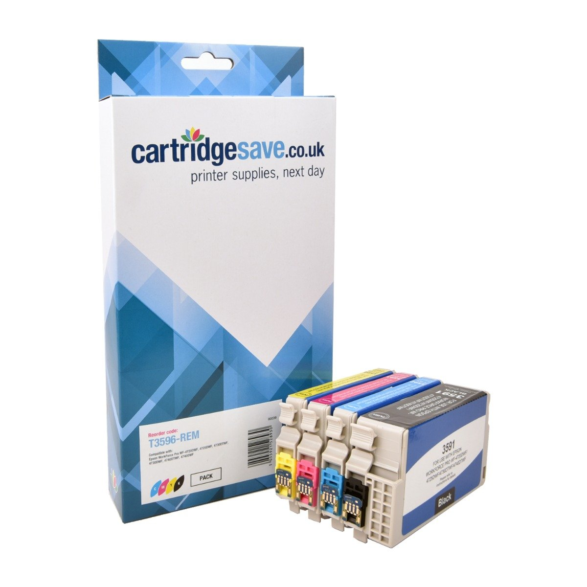 Compatible High Capacity 4 Colour Epson 35XL Ink Cartridge Multipack - (Replaces Epson T3596)