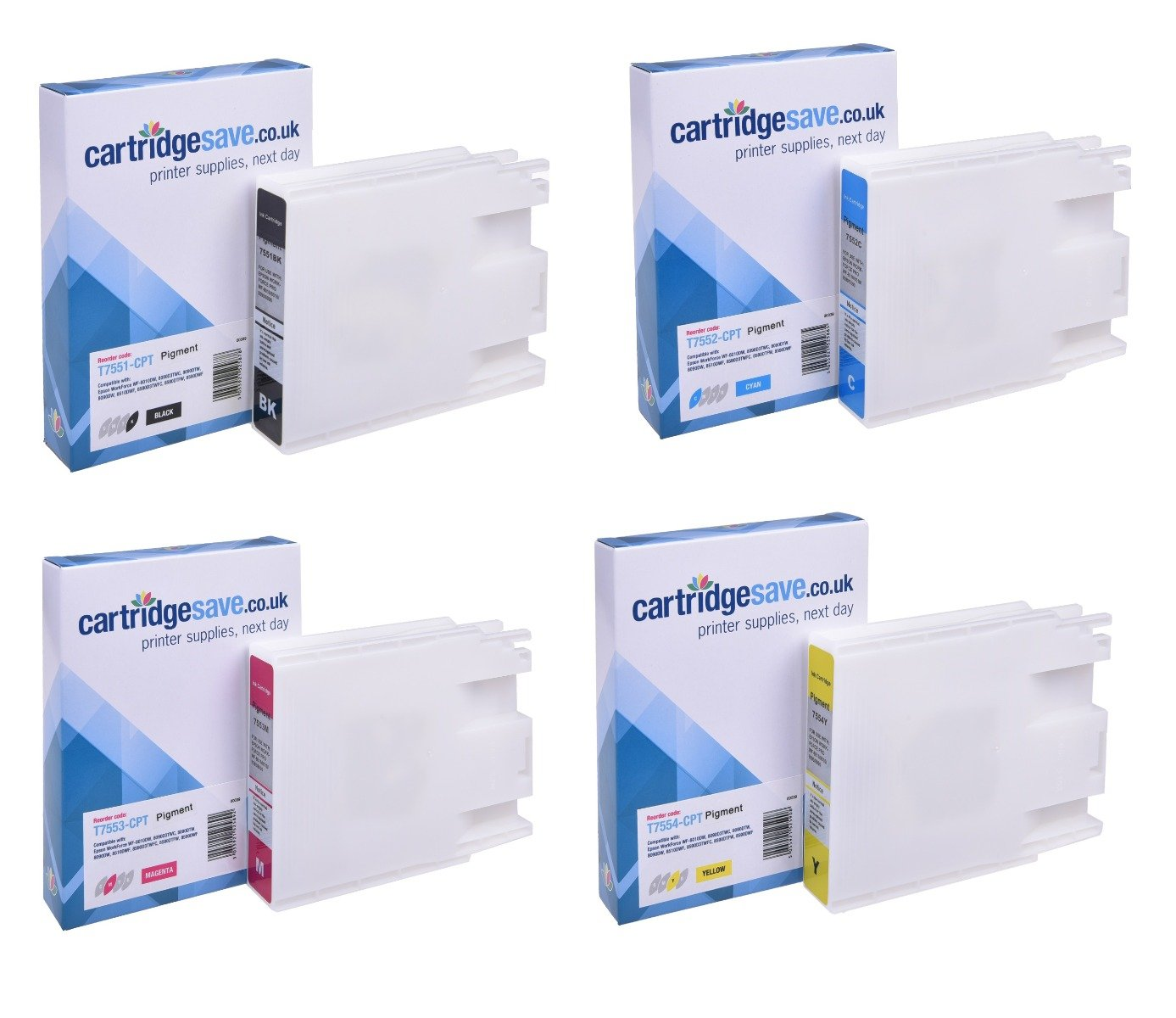 Compatible Epson High Capacity 4 Colour T755 Ink Cartridge Multipack - (T7551/T7552/T7553/T7554)