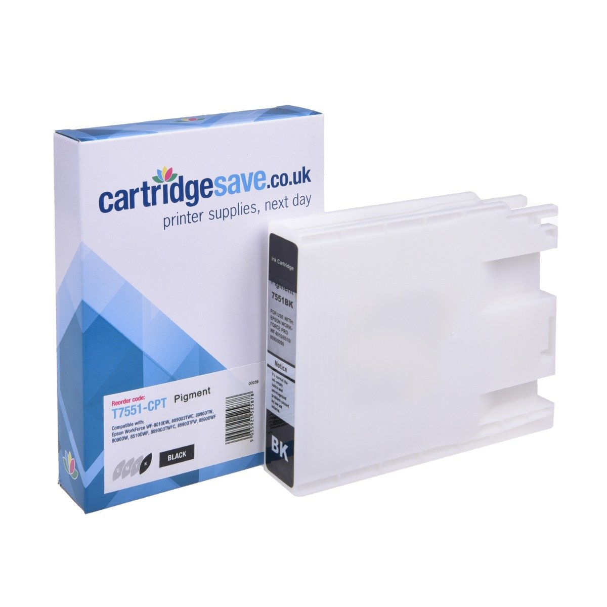 Compatible Epson High Capacity Black T7551 Ink Cartridge - (C13T755140)
