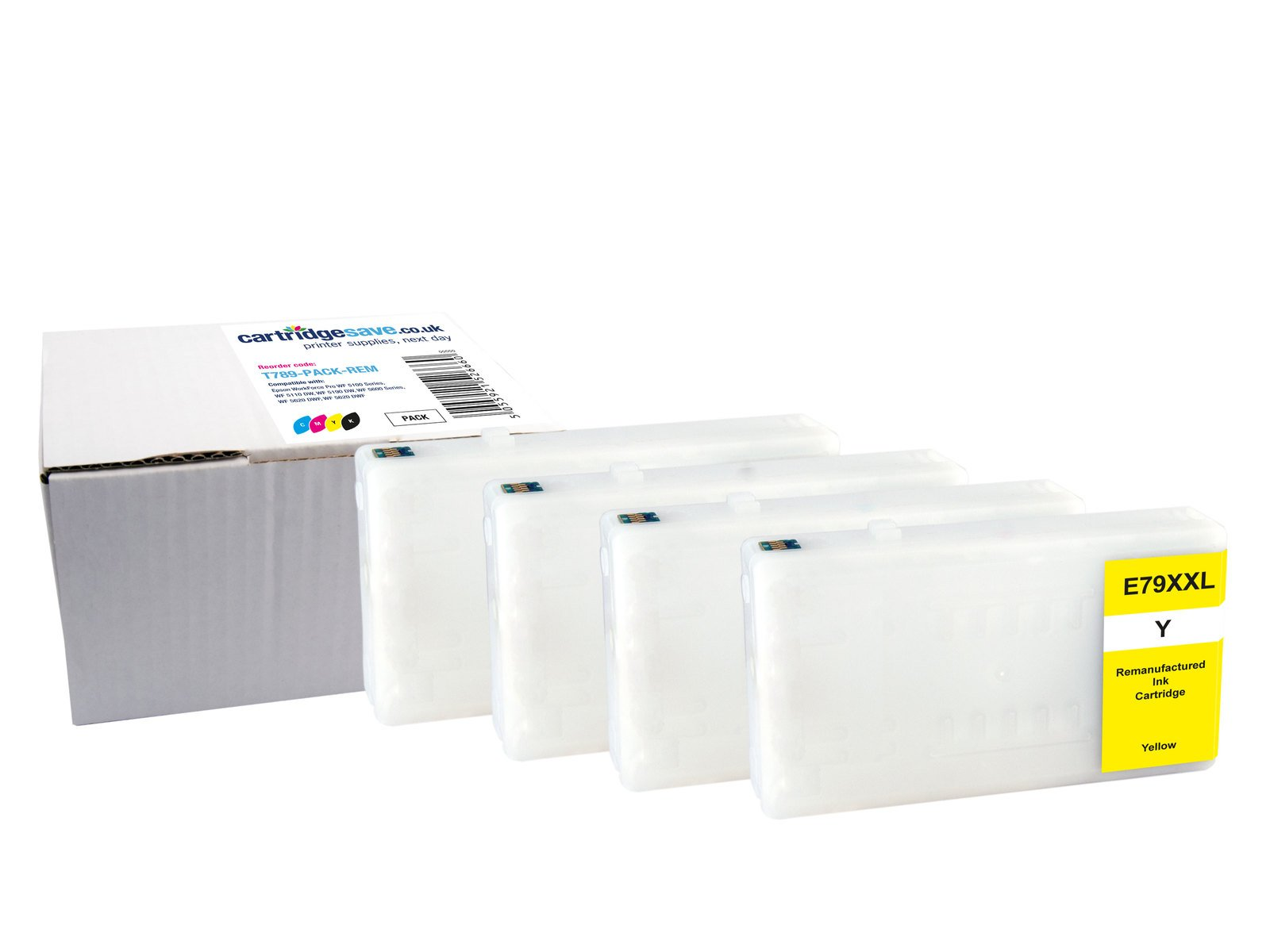 Compatible Extra High Capacity 4 Colour Epson T789 Ink Cartridge Multipack - (Replaces T7891/T7892/T7893/7894)