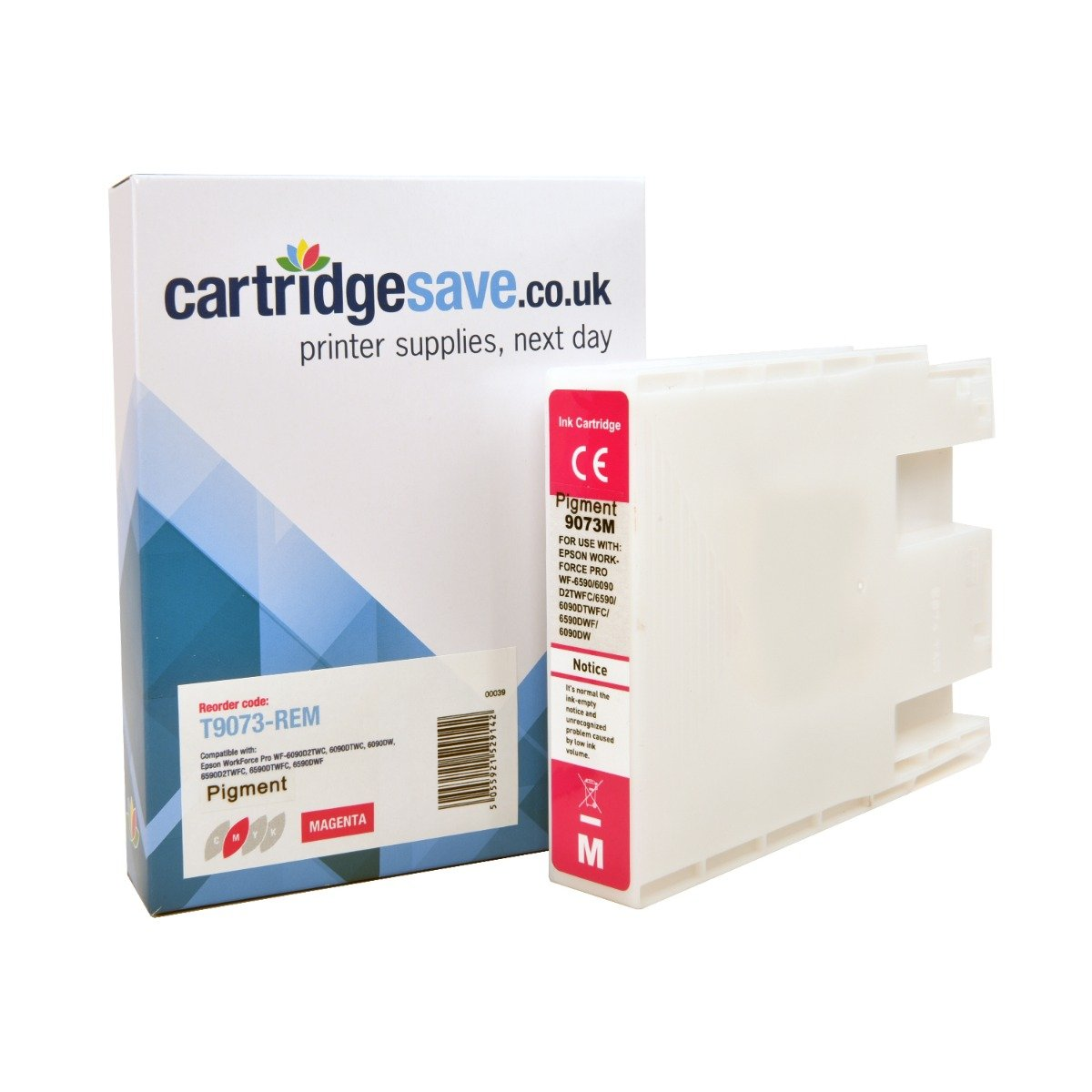 Compatible Magenta Epson T907 Ink Cartridge - (Replaces Epson T9073)