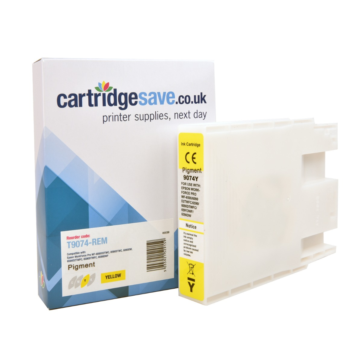 Compatible Yellow Epson T907 Ink Cartridge - (Replaces Epson T9074)