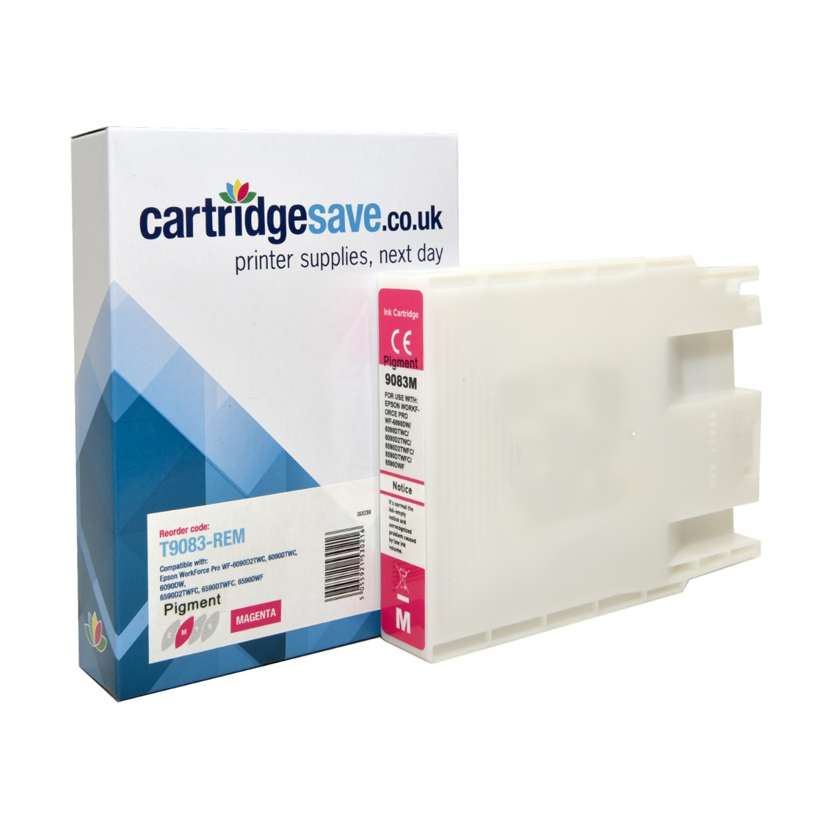 Compatible Epson T9083 Magenta Ink Cartridge - (Replaces Epson T9083)