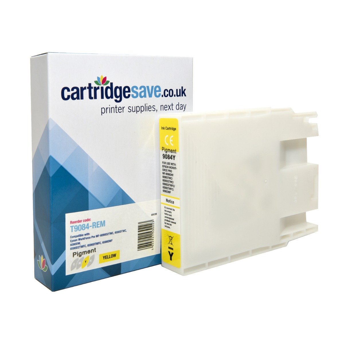 Compatible Epson T9084 Yellow Ink Cartridge - (Replaces Epson T9084)