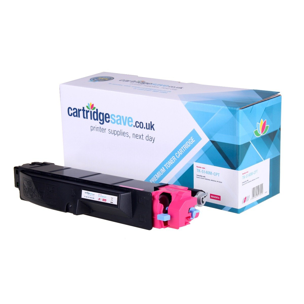 Compatible Magenta Kyocera TK5140M Laser Toner (Replaces Kyocera TK-5140M Laser Printer Cartridge)