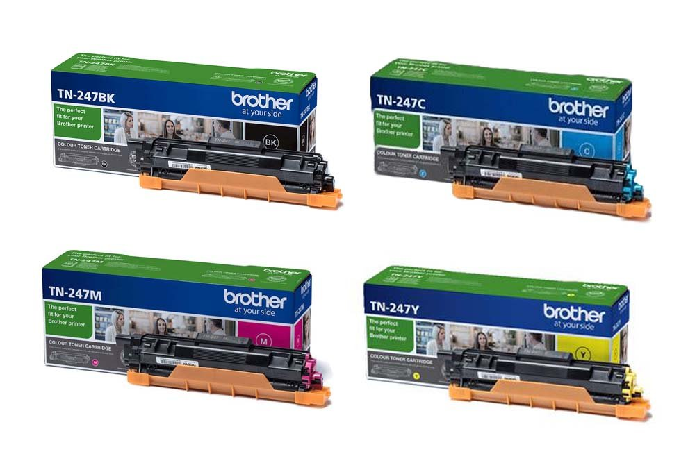 Genuine 4 Colour Brother TN-247 Toner Cartridge Multipack (TN-247BK/C/M/Y)