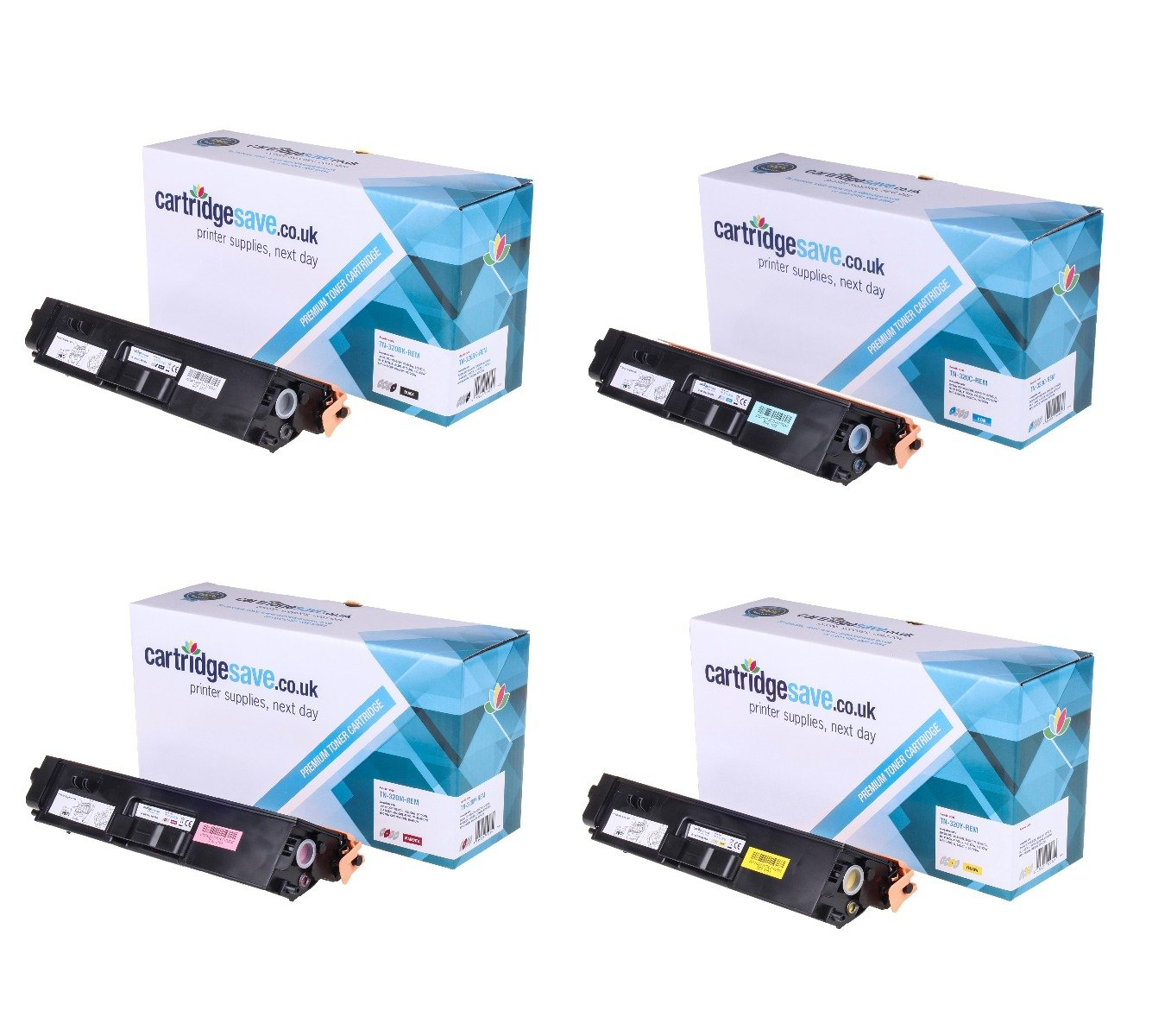 Compatible 4 Colour Brother TN-320 Toner Cartridge Multipack (TN-320BK/C/M/Y)