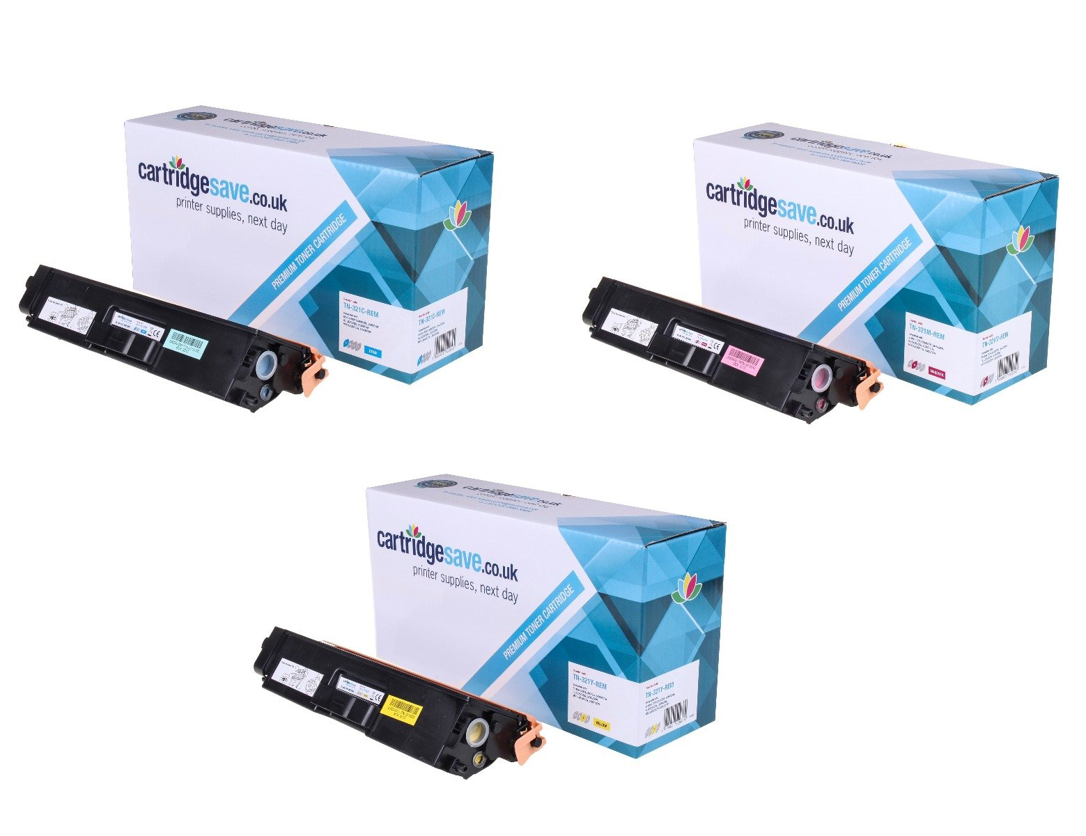 Compatible 3 Colour Brother TN-321 Toner Cartridge Multipack (TN-321C/M/Y)