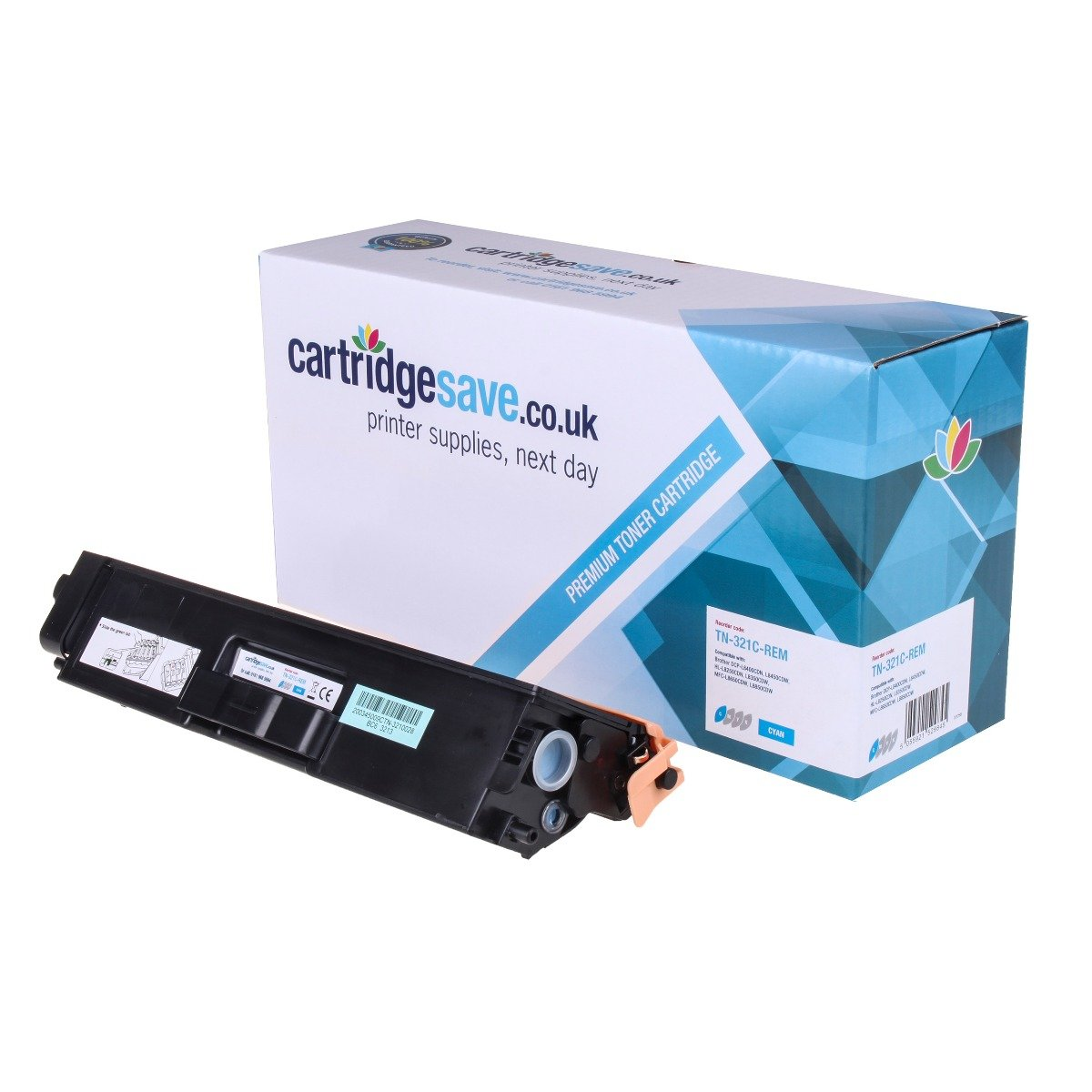 Compatible Cyan Brother TN-321C Toner Cartridge (Replaces TN321C)