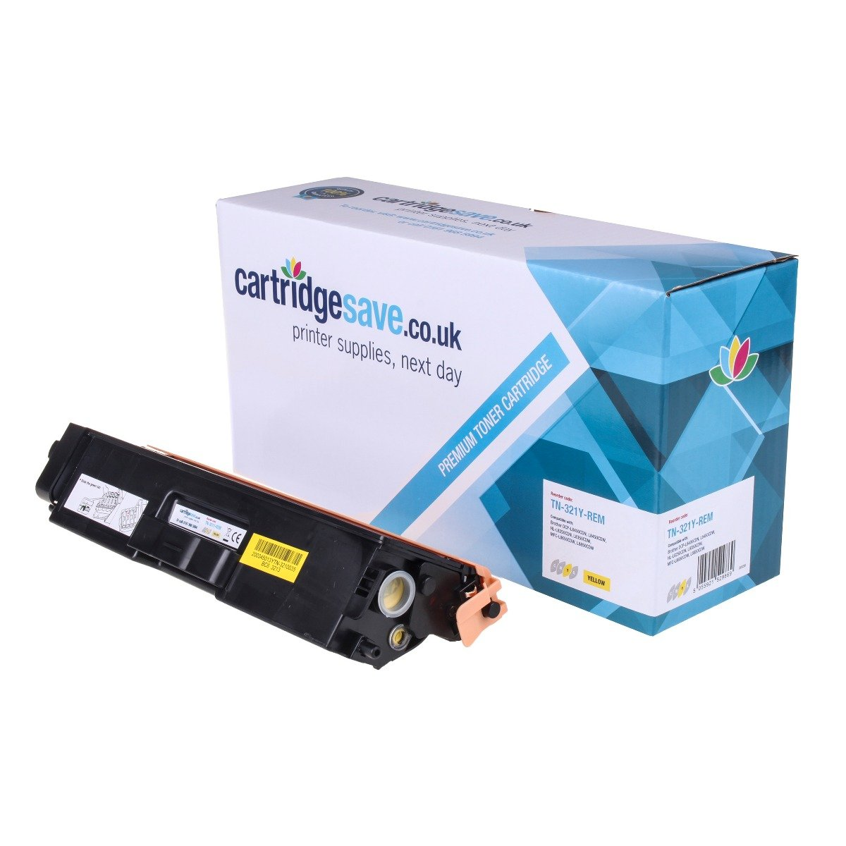 Compatible Yellow Brother TN-321Y Toner Cartridge (Replaces TN-321Y)